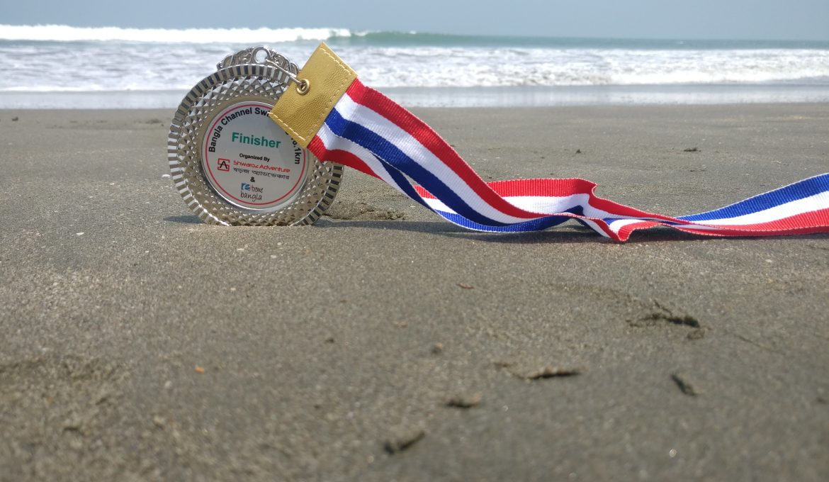 Bangla Channel 2019, My Maiden Open-water Swimming Success