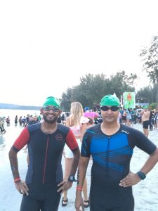 IRONMAN 70.3 Bintan Swim Start